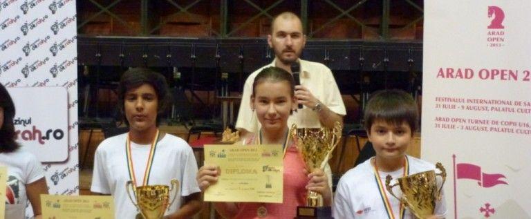 Copiii, primii câştigători la Arad Open 2013
