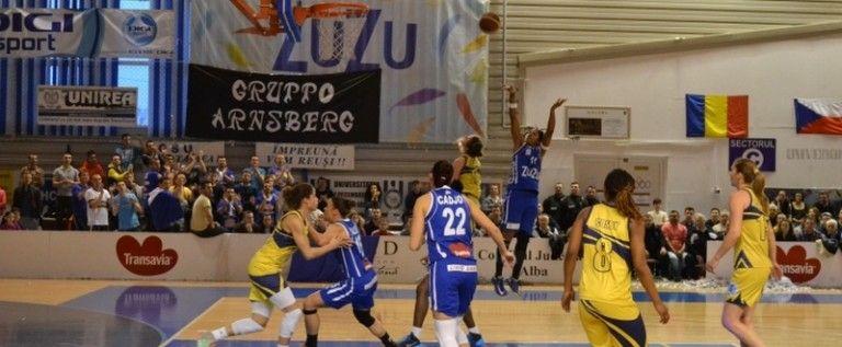 Univ.Goldiş a fost răpusă în finala Ligii Europei Centrale: 59-69 cu CSU Alba Iulia