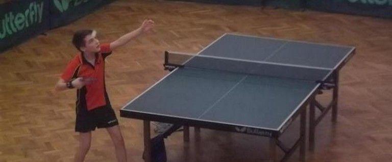 Paul Mladin – speranţă arădeană a tenisului de masă