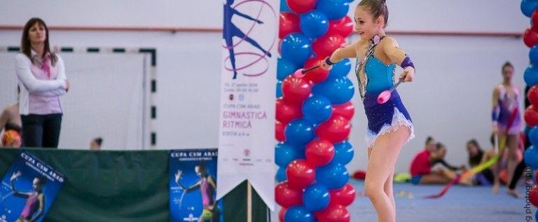Gimnastele de la CSM Arad s-au remarcat la Belgrad