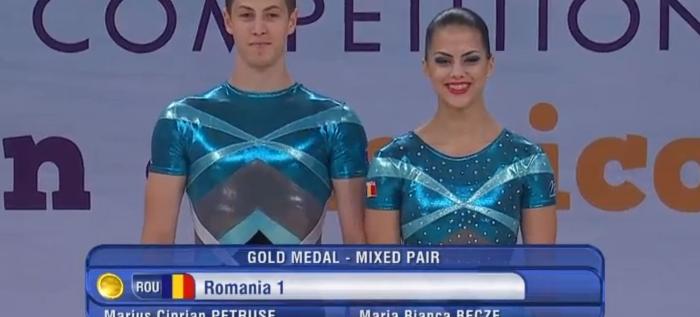 Marius Petruse este campion mondial la gimnastică aerobică!