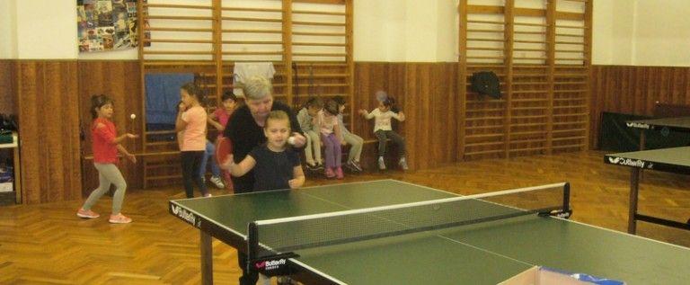 Acţiune de selecţie pentru copii la tenis de masă