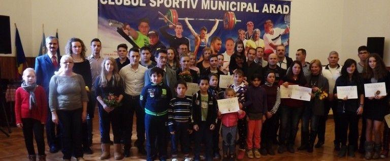 CSM Arad şi-a premiat performerii din 2014