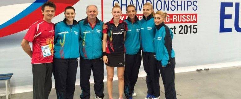 Daniela Dodean e finalistă europeană, cu echipa României!