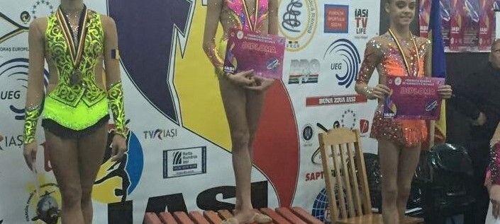 Sonia Ichim a confirmat la Naţionale. Medalii arădene pe covorul ritmicii
