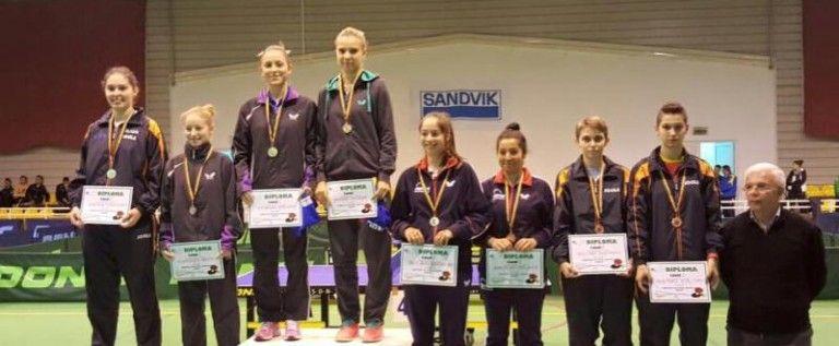 Patru medalii nationale la tenis de masa au fost cucerite de sportivii de la CSM Arad