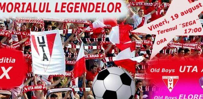 Old Boys UTA organizează vineri Memorialul Legendelor