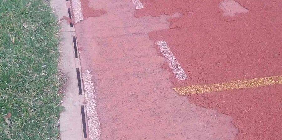 Dezastru pe stadionul Gloria! Pista de atletism, făcută praf