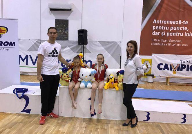 Gimnastele arădene au urcat pe podium la Cupa Petrom