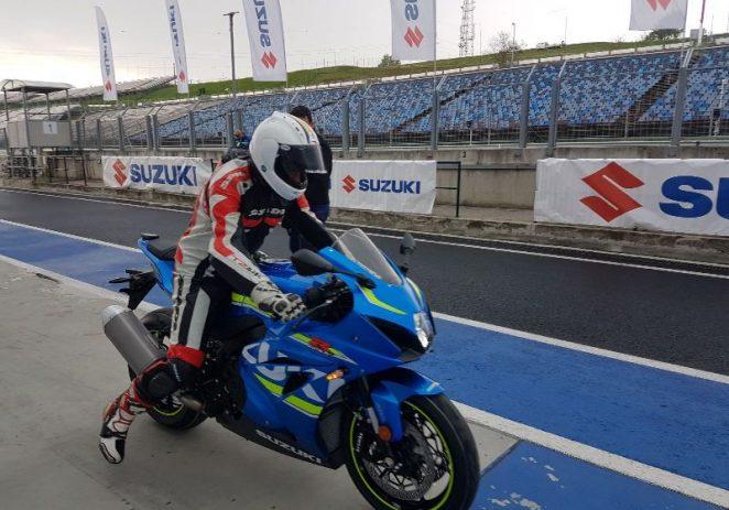 Robert Mureșan a testat ultimul model Suzuki