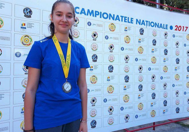 Talerista Briana Vărcuş a cucerit argintul naţional