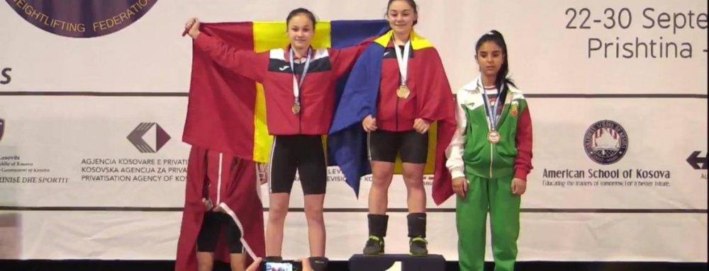Aradul are dublă campioană europeană la haltere!