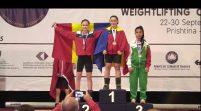 UPDATE: Aradul are dublă campioană europeană la haltere!