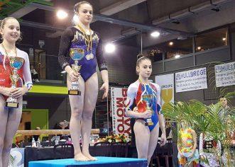 Gimnasta Iulia Berar a cucerit bronzul la Top Gym