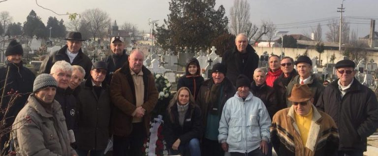 Foștii utiști și vagonari s-au reunit la Memorialul Brosovszky