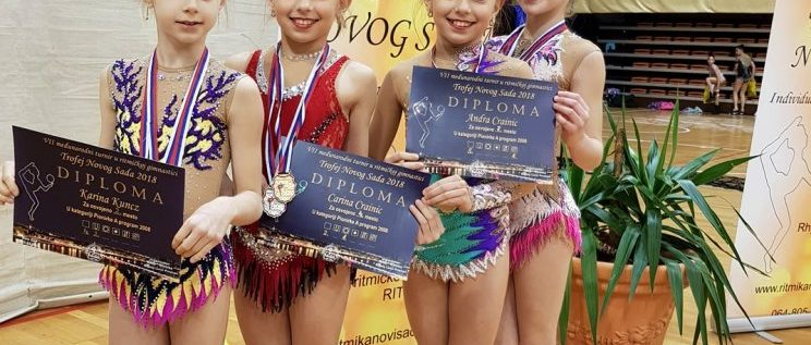 Gimnastele de la ritmică au urcat pe podium, în Serbia