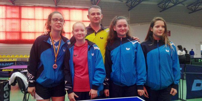 Aradul are două cadete la lotul naţional de tenis de masă