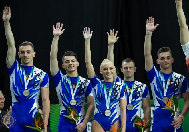 Gabriel Bocşer, dublu medaliat la Mondialul de aerobic