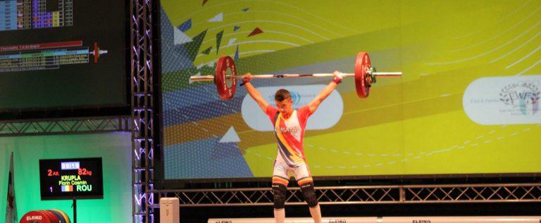 Halterofilul Cosmin Krupla e triplu medaliat european