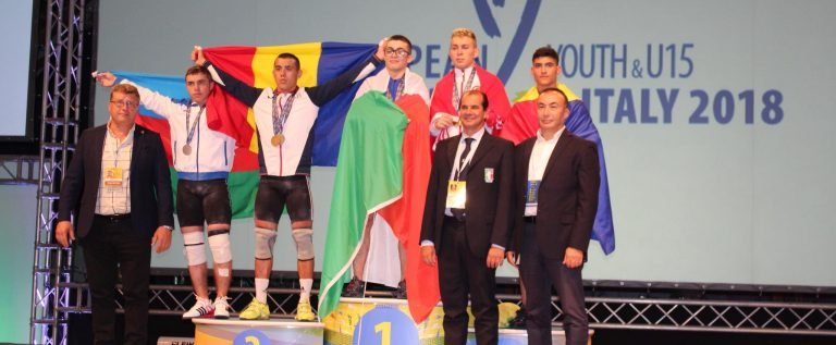 Halterofilul Emanuel Danciu e dublu medaliat european