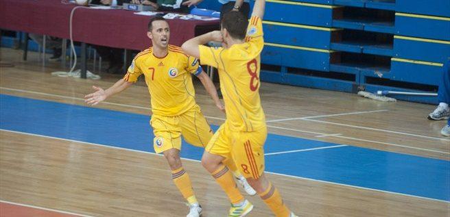 Naţionala de futsal obţine un dublu succes, la Arad