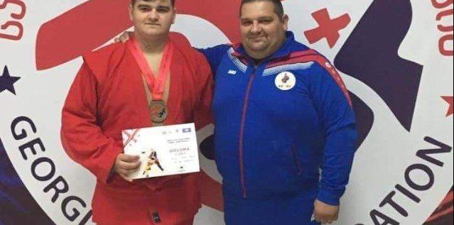 David Nagy e medaliat cu bronz mondial, la sambo
