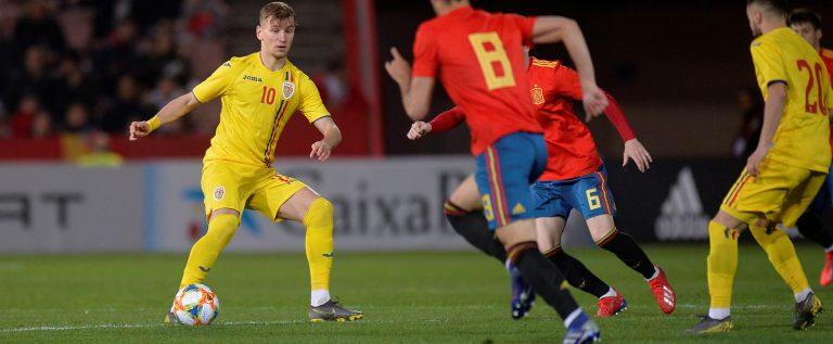 Fără Man şi Petre, România U21 a fost învinsă de Spania