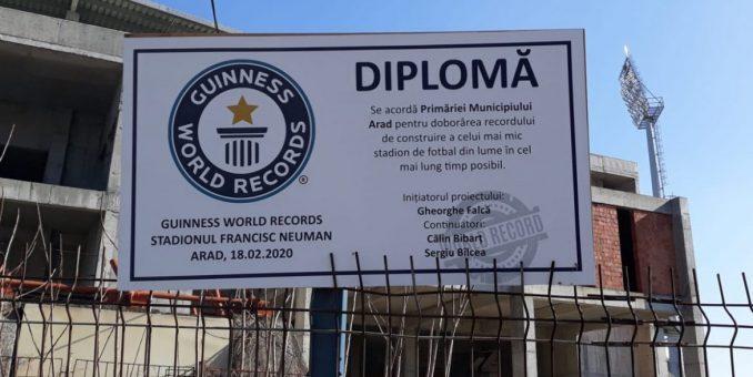 Istorie la Arad: stadionul UTA a intrat în Cartea Recordurilor!