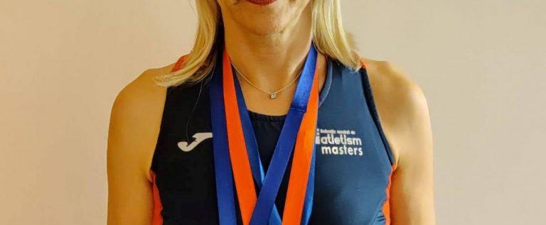 Atletă masters de la CSM Arad, triplă medaliată la Balcaniadă!