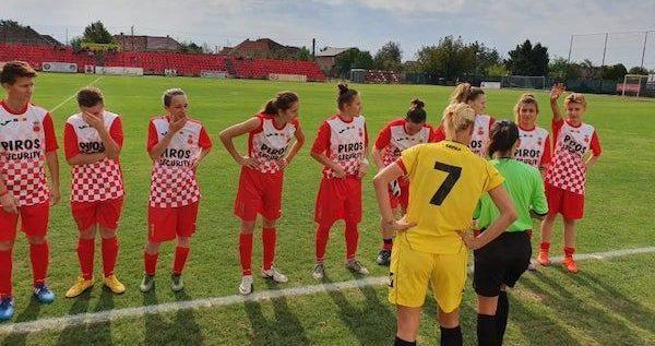 "A ""îngheţat"" şi fotbalul feminin. Piroş Security, în joc de glezne"