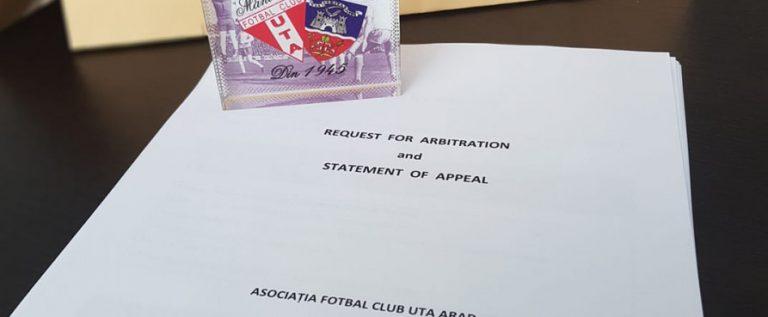 Este oficial: UTA a făcut apel la TAS! Promovarea în Liga 1 se joacă şi la…Lausanne