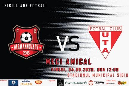 UTA dispută vineri un meci amical la Sibiu, cu FC Hermannstadt