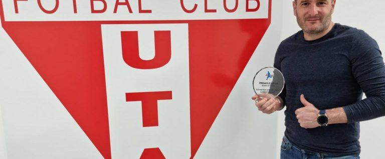 """Laszlo Balint, trofeu important la UTA: """"Respect şi recunoştinţă adevăraţilor suporteri"""""""