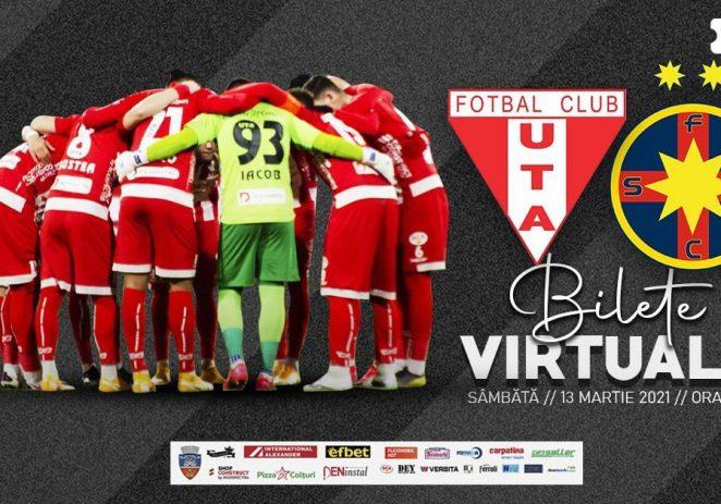 UTA a pus în vânzare bilete virtuale pentru meciul de sâmbătă, cu FCSB