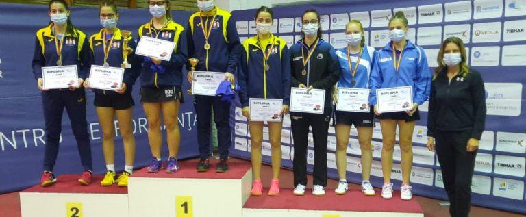 Irina Rus a urcat pe podiumul naţional al junioarelor, la tenis de masă