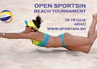 Clubul Sportsin din Arad organizează turneu de volei pe plajă pentru amatori
