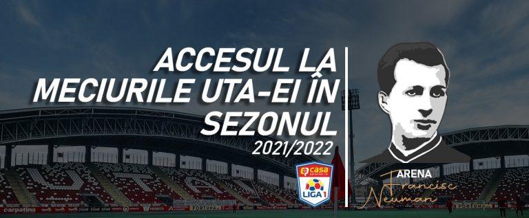 Meciurile UTA-ei se vor juca cu public, dar nu mai mult de 50 la sută din capacitatea stadionului